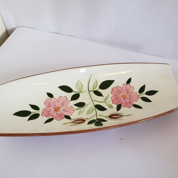 """stangl Other - Stangl pottery  WIld rose 15"""" Bread serving dish"""